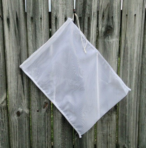 These 400 micron mesh bags are the perfect fit for containing your compost when brewing compost tea.  The 400 micron size will allow the full diversity of microbes to easily pass from the compost into your aerated compost tea.