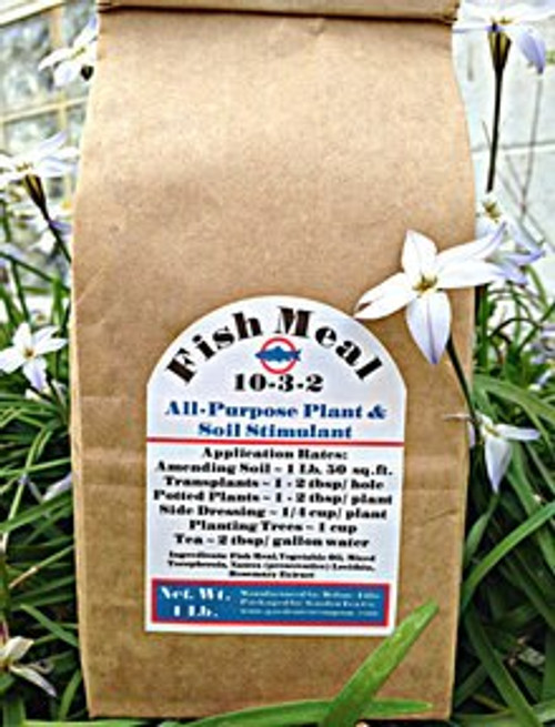 Fish Meal 10-3-2 is an all-purpose organic fertilizer that helps promotes vigorous root development and rapid growth for vegetable gardens, flower beds and all types of outdoor plants, trees and shrubs.