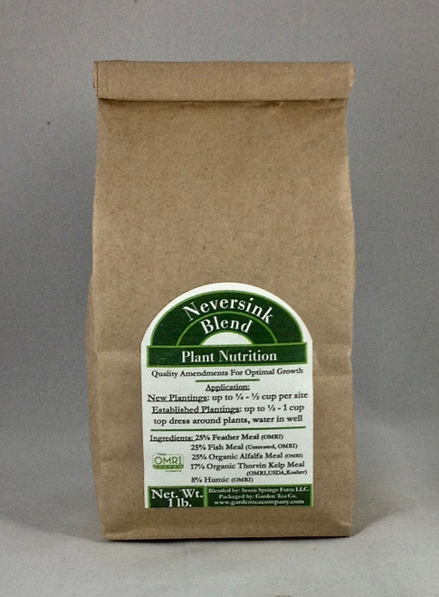 Neversink Blend is a plant fertilizer made with quality ingredients for optimal plant growth