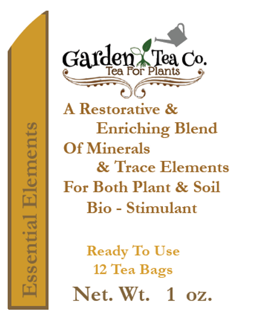 Ready to use tea bags for easy organic fertilizer application
