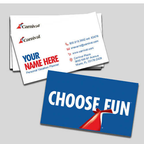 Carnival Cruise Lines Employee Business Card