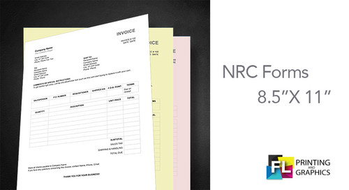 """5.5"""" X 8.5"""" NCR Carbonless Forms"""