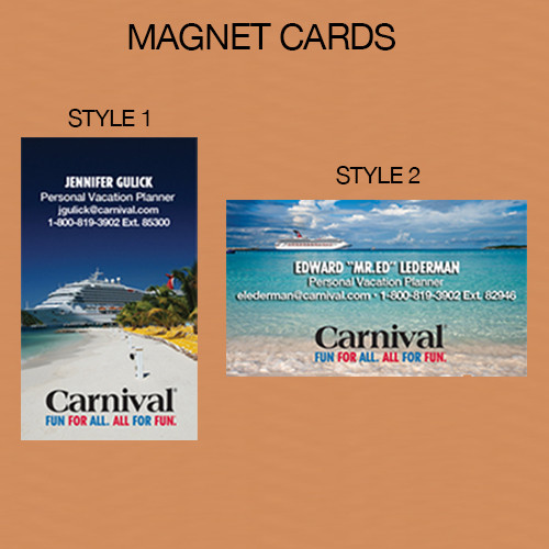 Carnival PVP Magnet Cards