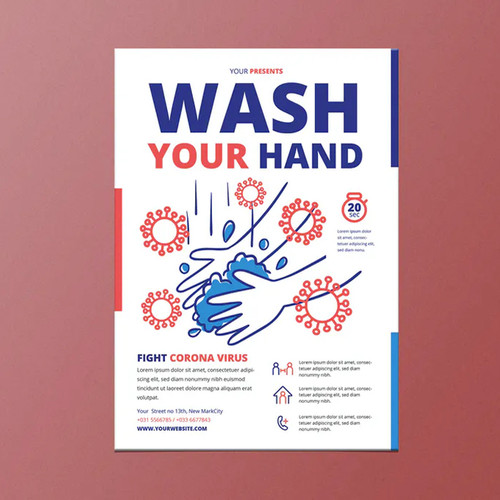 "11""x17"" Wash your Hands Poster"