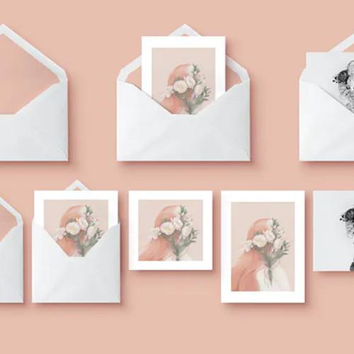 25 Greeting Cards / Envelopes