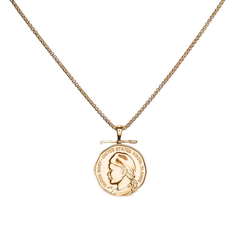 """VI Queen"" coin pendant and chain set"