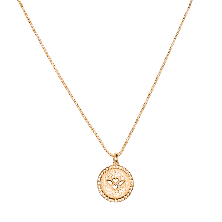 "Udall Caribbean ""Signet"" pendant and chain set"