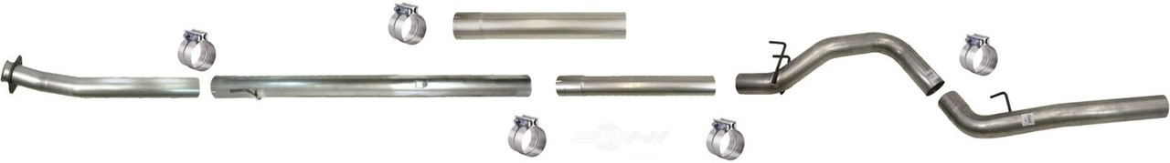 """2011-2019, 6.7L, F250/F350, Auto Only, FLO-PRO 5"""" Down Pipe Back, Aluminized Race Exhaust, No Muffler, No Bungs"""