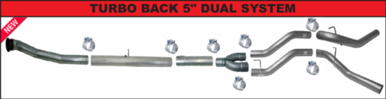 """mbrp P1 4/"""" DPF CAT Delete Race Pipe No Bungs 08-10 Ford 6.4L Powerstroke"""