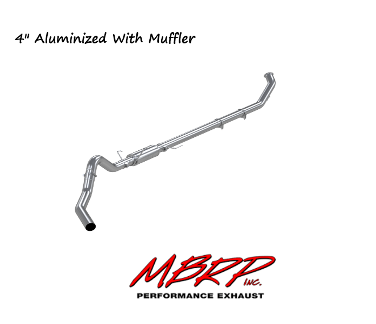 "2007-2009 Dodge Ram2500/3500 6.7L MBRP (P1 Race Parts) 4"" Turbo Back  Aluminized Race Exhaust With Muffler (Includes Free Tip) C6126P"