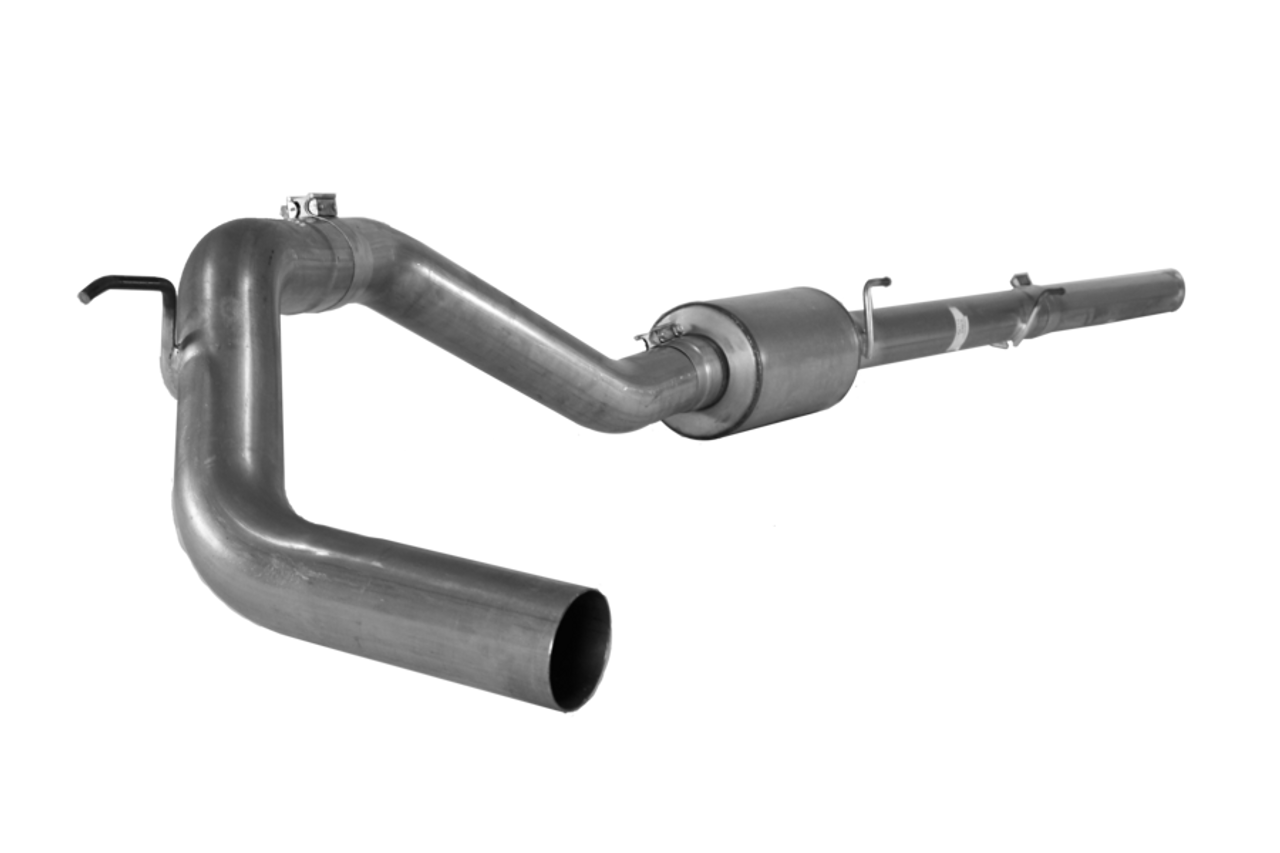"2016-2018 Nissan Cummins FLO-PRO 4"" Aluminized  Downpipe Back Exhaust With Muffler"