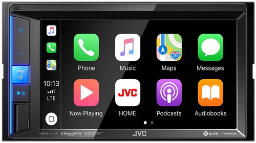 "JVC Digital Media Receiver featuring 6.2"" Clear Resistive Touch Monitor KW-M650BT"
