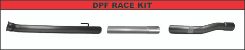 """2019-2020, 6.7L, 2500/3500,FLO-PRO  Pickup 4"""" Cat & DPF/SCR Race Pipes, No Bungs"""