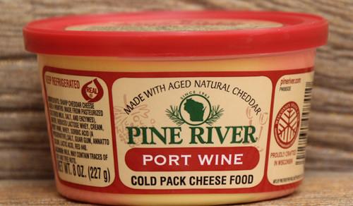 Pine River Port Wine Cheese Spread - Small