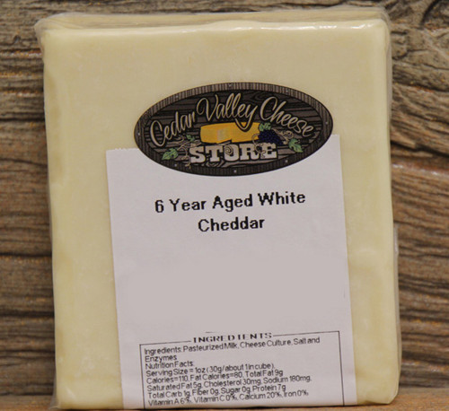 6 Year Aged White Cheddar