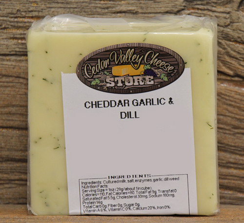 Garlic & Dill White Cheddar
