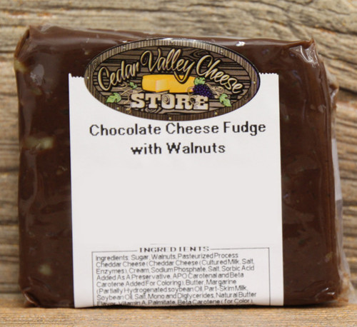 Chocolate Cheese Fudge with Walnuts