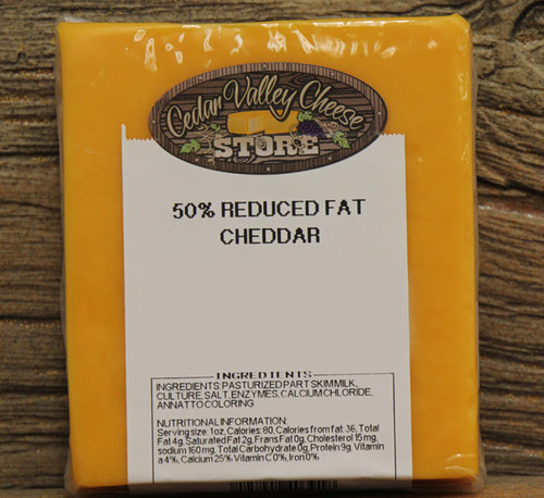 50% Reduced Fat Cheddar