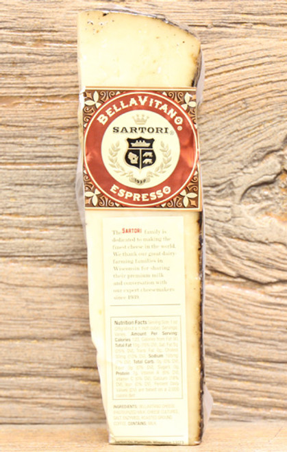 Sartori BellaVitano Espresso Wheel Wedge