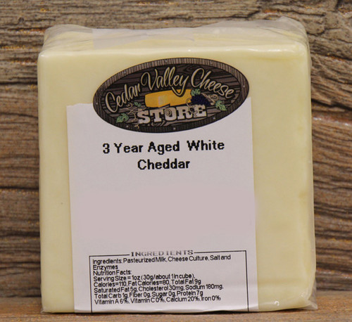 3 Year Aged White Cheddar