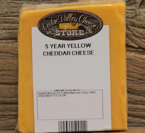 5 Year Aged Yellow Cheddar