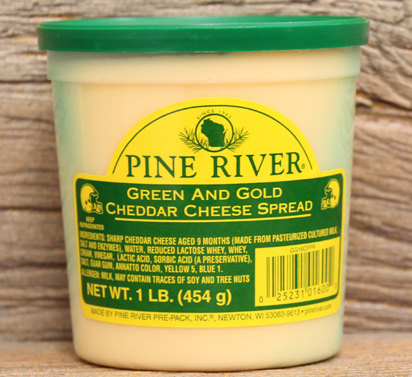 Pine River Green and Gold Cheese Spread - Large