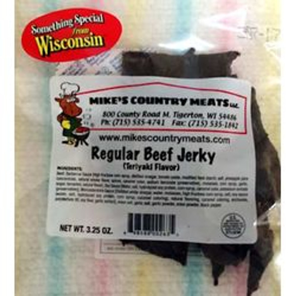 A top selling jerky has a savory teriyaki flavor.  The marinade is made from scratch my Mike's every day.