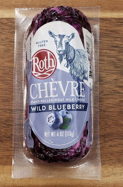 Creamy Chèvre is rolled with wild blueberries to create a textbook balance of sweet and tangy. 4oz.
