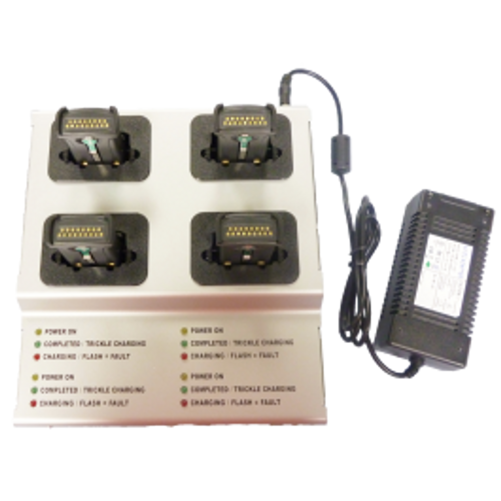 Four Bay Battery charger for O'Neil Mf2t & 4t mobile printers