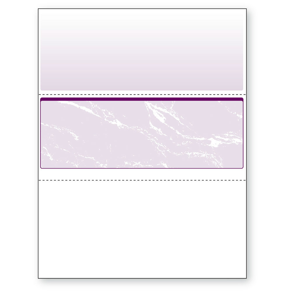 """Check in Middle, Perfs - 3 1/2"""" & 7"""" from Top, Purple, 11 Security Features"""