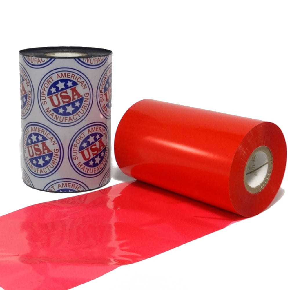"""esin Ribbon: 2.52"""" x 984' (64.0mm x 300m), Ink on Outside, Red"""