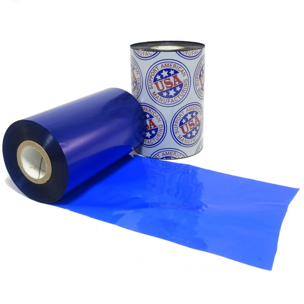 "Resin Ribbon: 1.49"" x 1,181' (38.0mm x 360m), Ink on Inside, Blue"