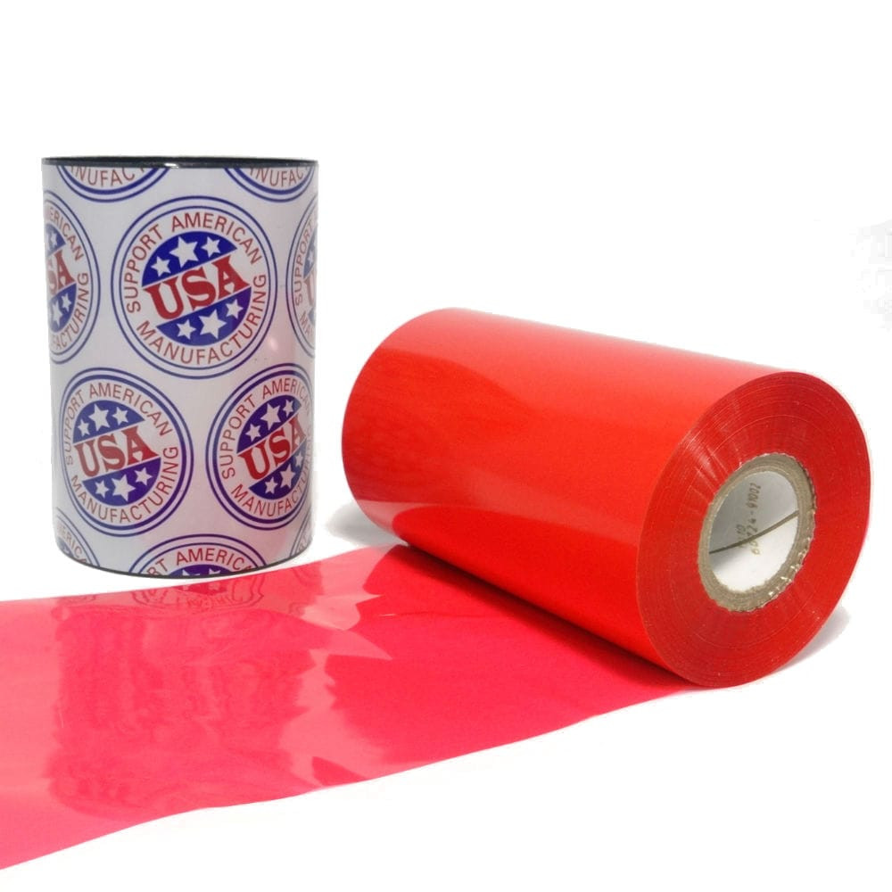 """Resin Ribbon: 3.00"""" x 1,181' (76.2mm x 360m), Ink on Inside,  Red, $47.85 per Roll in 24 Roll Case"""