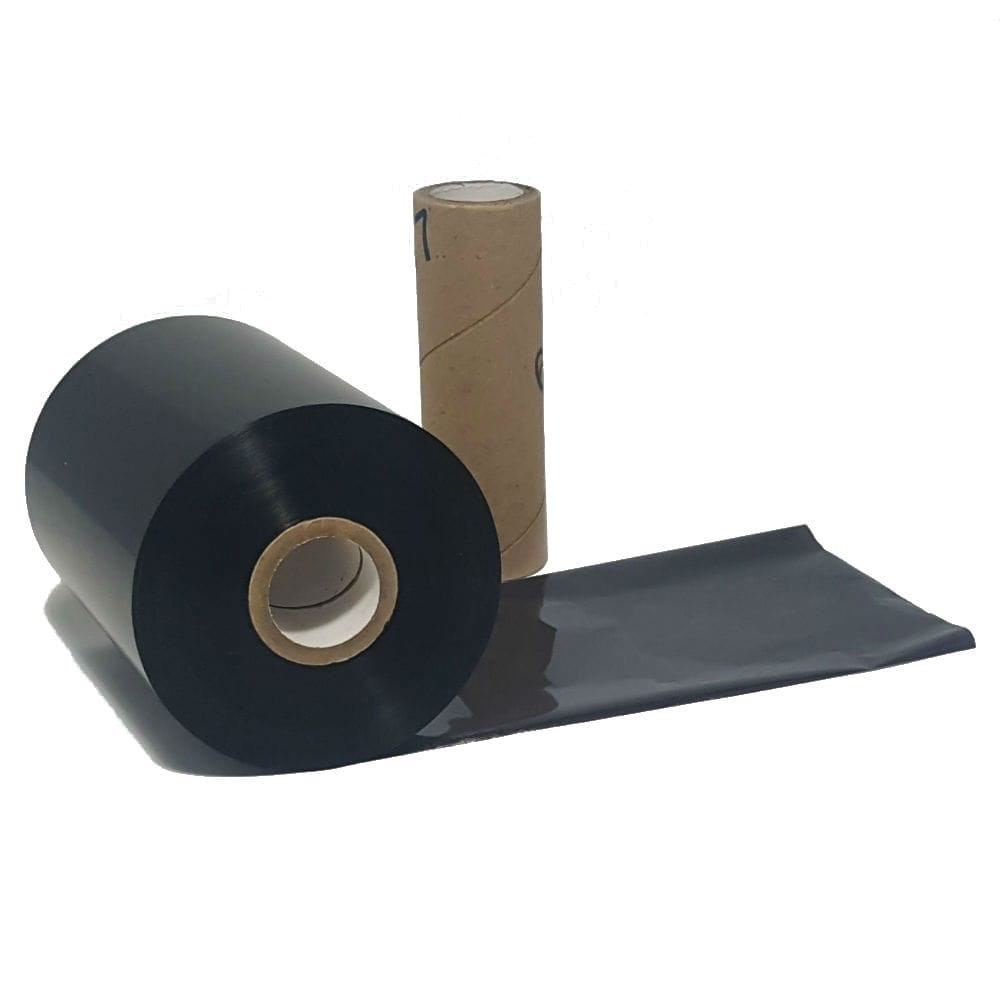 "Resin Ribbon: 2.16"" x 1,312' (55.0mm x 400m), Ink on Inside, General Use, Near Edge, $12.28 per roll"