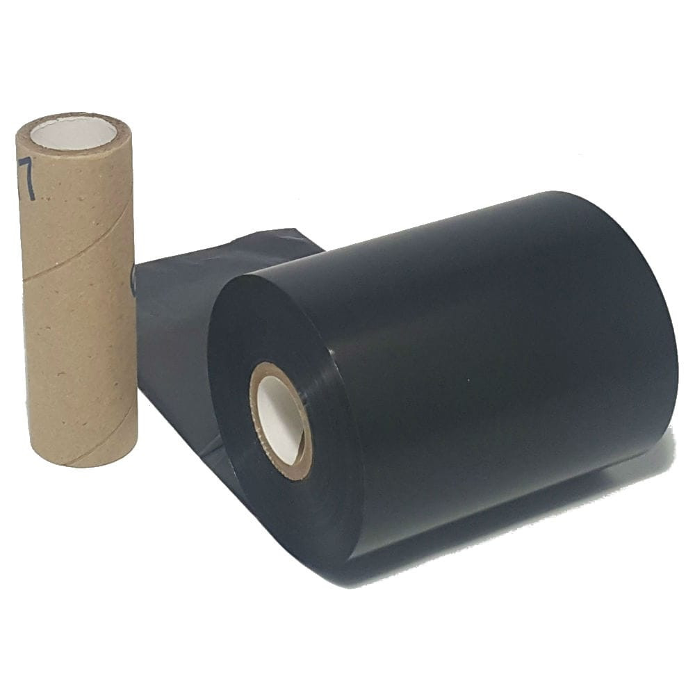 "Resin Ribbon: 2.08"" x 1,968' (53.0mm x 600m), Ink on Outside, General Use, Near Edge, $17.00 per roll"