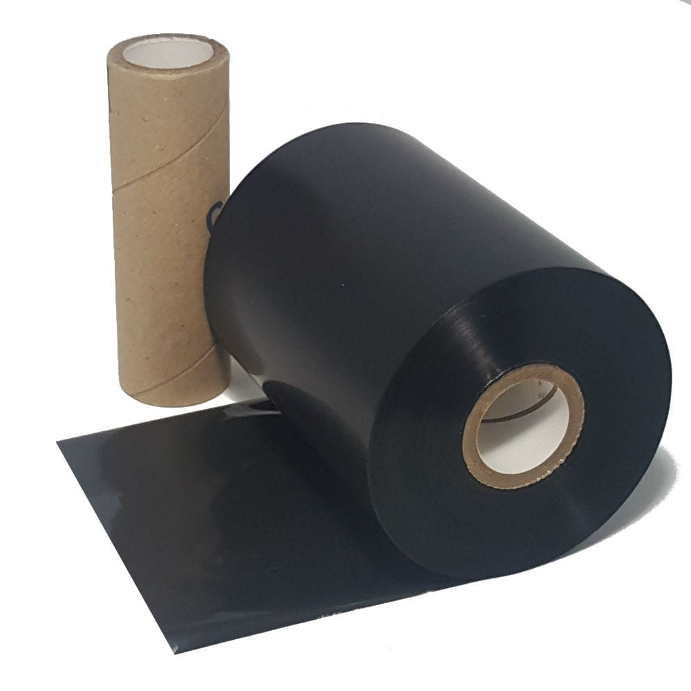 "Resin Ribbon: 4.17"" x 1,968' (106.0mm x 600m), Ink on Outside, General Use, Near Edge, $35.50 per Roll in 24 Roll Case"