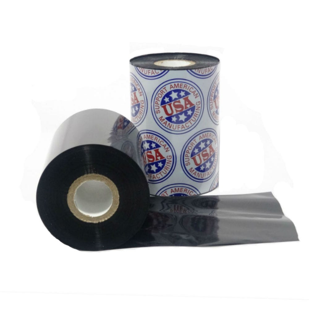 """Resin Ribbon: 3.14"""" x 1,345' (80.0mm x 410m), Ink on Inside, General Use, $14.49 per Roll in 6 Roll Case"""