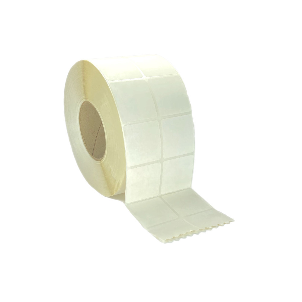 "2"" x 1"", Thermal Transfer, Perforated, Roll, 3"" Core, Coated, 2-Up, $17.75 per Roll in 4 Roll Case"