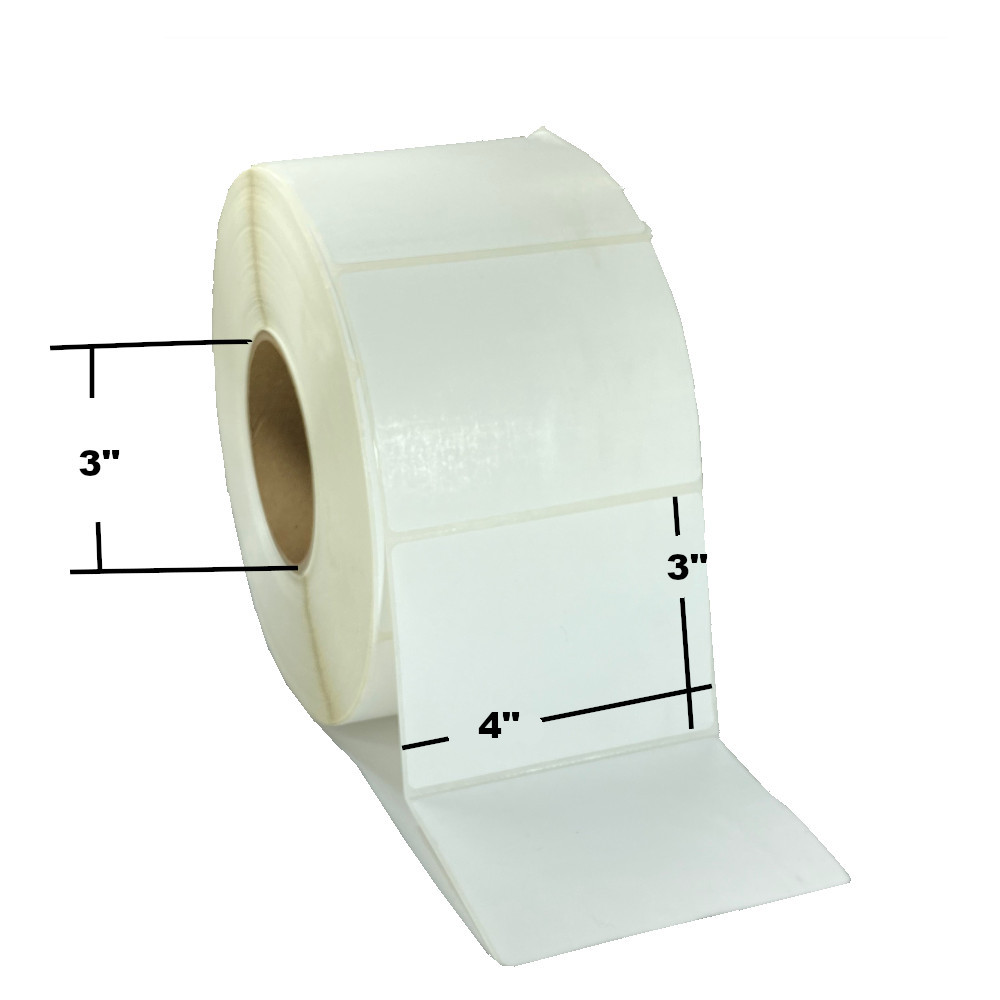"""4"""" x 3"""", Direct Thermal, Perforated, Roll, 3"""" Core, Uncoated, $25.33 per Roll in 4 Roll Case"""