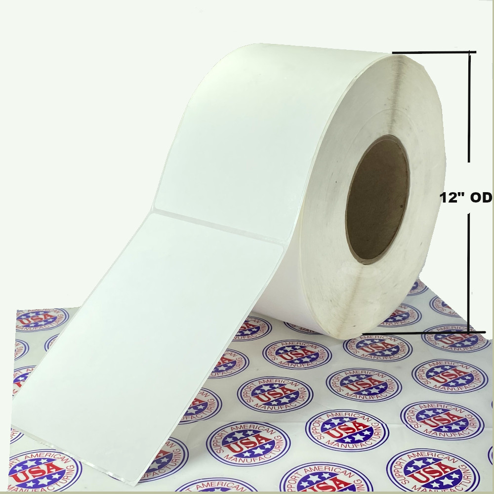 """4"""" x 6"""", Direct Thermal, Perforated, Roll, 1"""" Core, Uncoated, 4"""" Outside Diamenter, $6.23 per Roll in 16 Roll Case"""