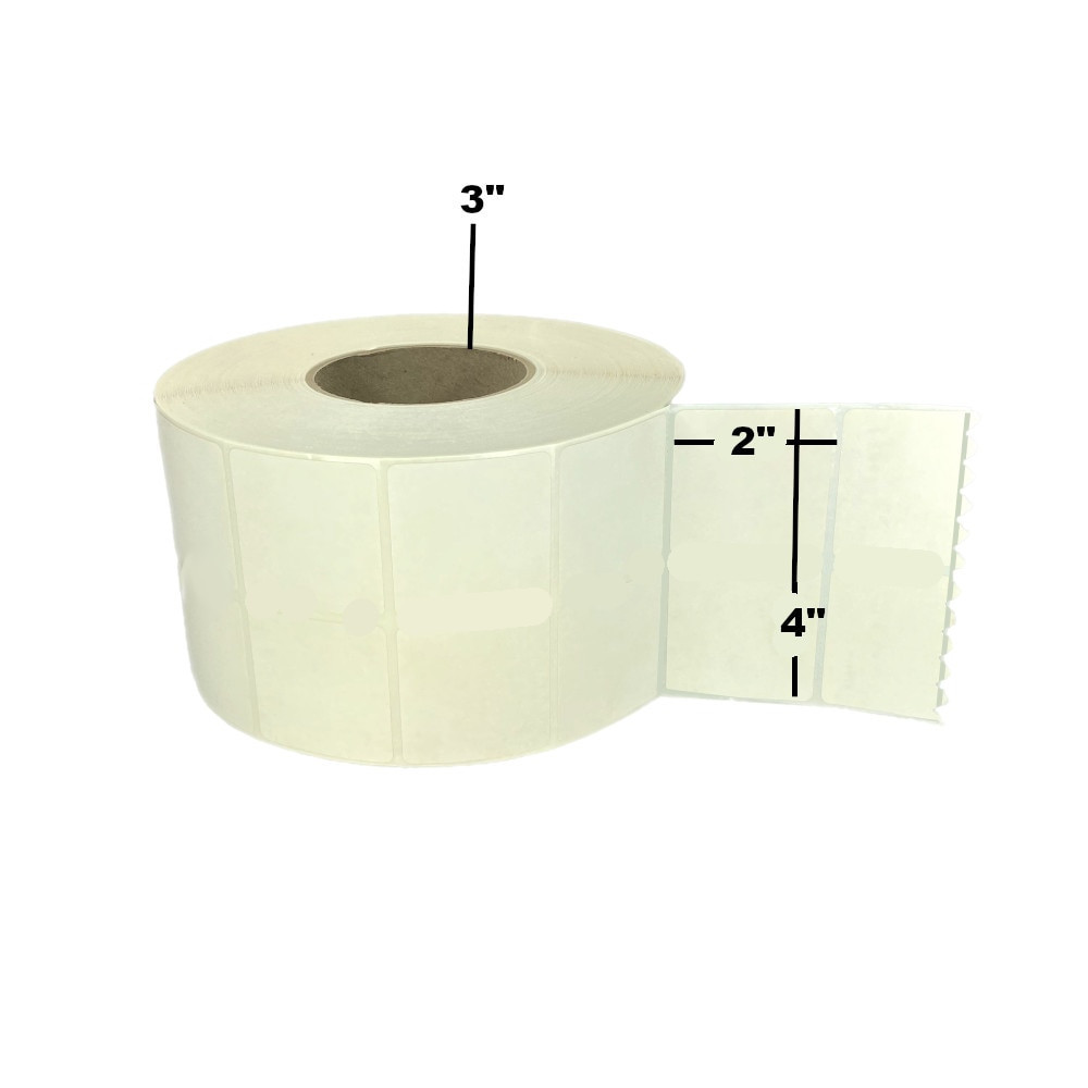 "4"" x 2"", Direct Thermal, Perforated, Roll, 3"" Core, Uncoated, Freezer Grade, $22.80 per Roll in 4 Roll Case"