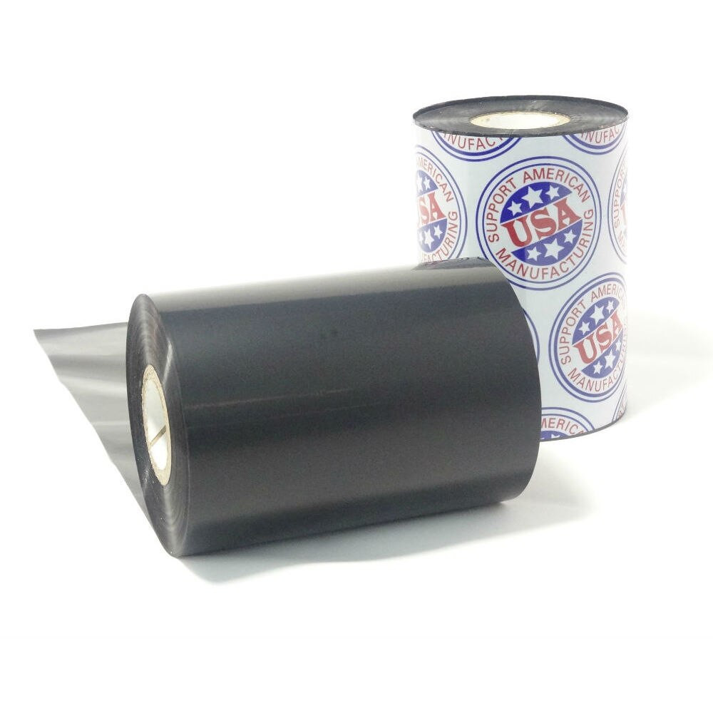 "Wax Resin Ribbon: 1.18"" x 1,968' (30.0mm x 600m), Ink on Outside, General Use, Near Edge, $5.75 per Roll in 12 Roll Case by Ganson"