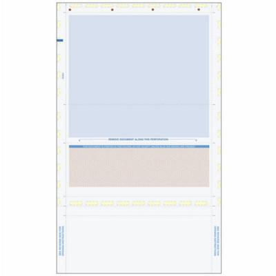 Z-Fold Eccentric, Brown Check with Blue Remit, 8 1/2 x 14 Multi-Purpose