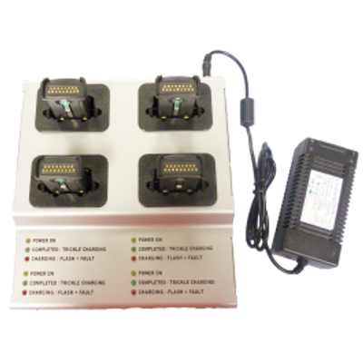 Four Bay Battery charger for Zebra QL220/320 mobile printers