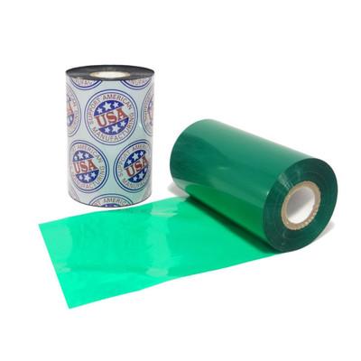"""Wax Ribbon: 3.26"""" x 1,181' (83.0mm x 360m) Ink on Inside, Green"""