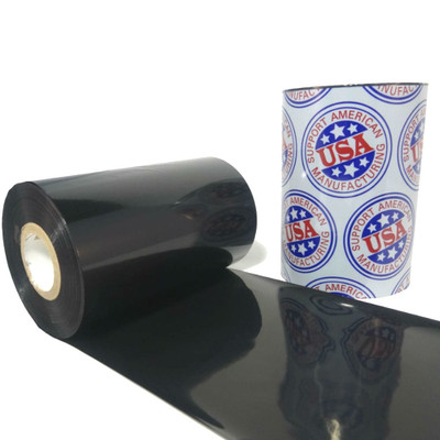 "Wax Resin Ribbon: 4.00"" x 1,181' (165.1mm x 360m), Ink on Inside, General Use"