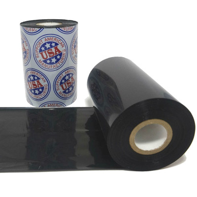"""Wax Resin Ribbon: 3.50"""" x 1,476' (89.0mm x 450m), Ink on Outside, General Use"""