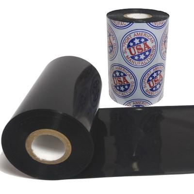 """Wax Resin Ribbon: 4.00"""" x 1,476' (101.6mm x 450m), Premium"""