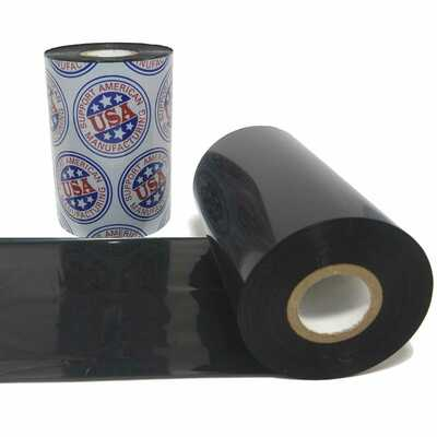 """Wax Ribbon: 3.26"""" x 1,181' (83.0mm x 360m), Ink on Inside, Premium"""