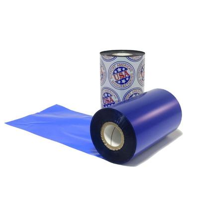 """Wax Ribbon: 3.26"""" x 1,181' (83.0mm x 360m), Ink on Inside, Blue"""